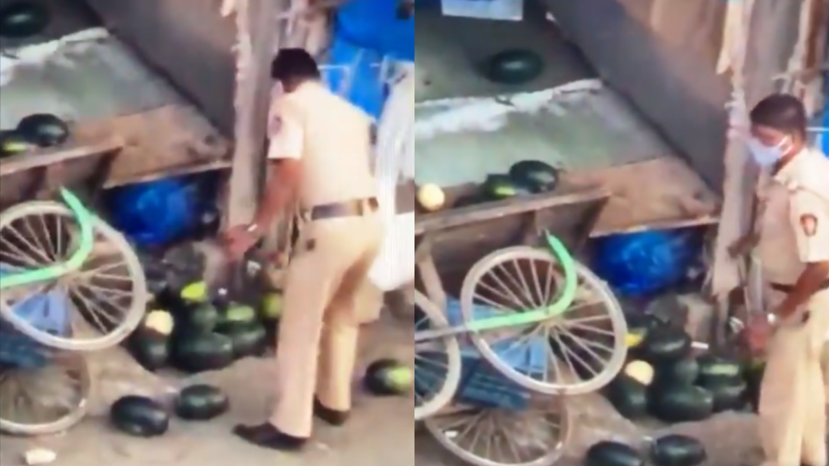 VIRAL: Unidentified video shows Mumbai cop destroying fruits on a roadside stall amid lockdown; WATCH here