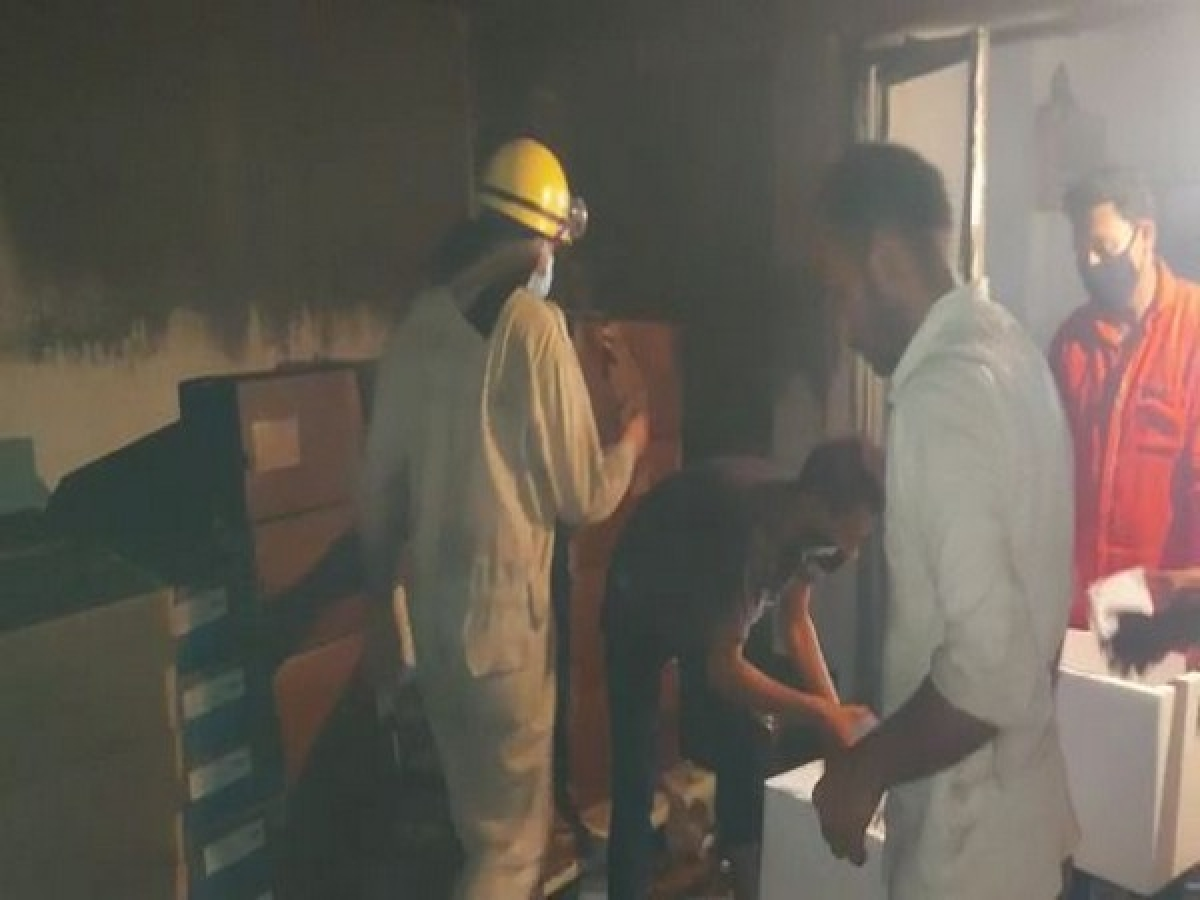 Fire in warehouse in Indore