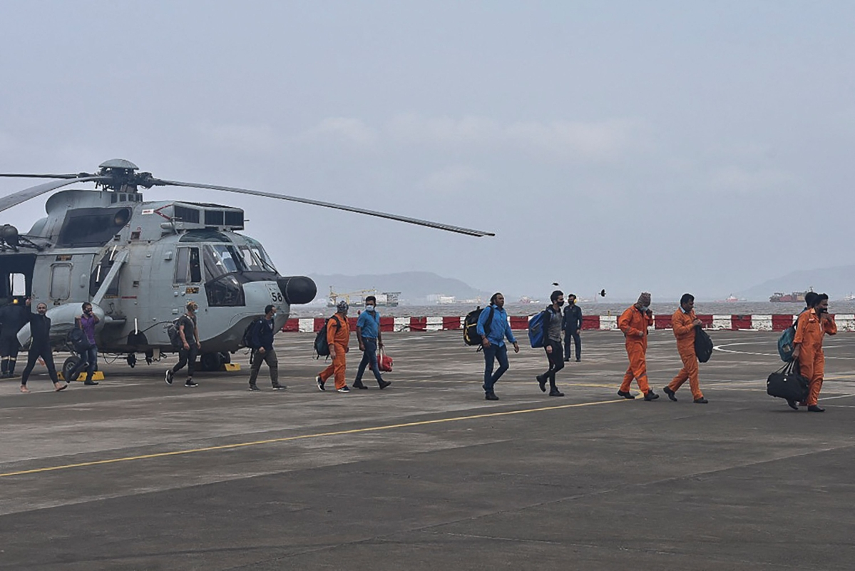 Cyclone Tauktae: Indian Navy rescues 180 people onboard barge P305, 93 still adrift
