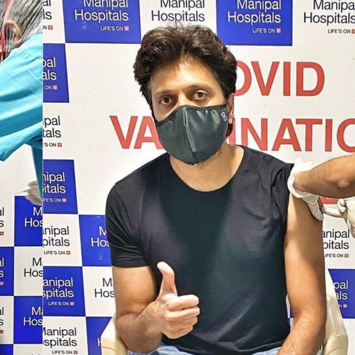 Riteish Deshmukh, Genelia D'souza get vaccinated against COVID-19, urge fans to take the jab