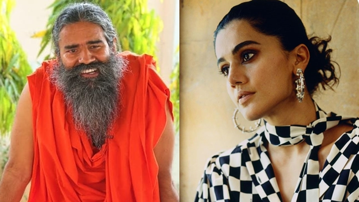Did Taapsee Pannu take a dig at Baba Ramdev for his statement mocking doctors?