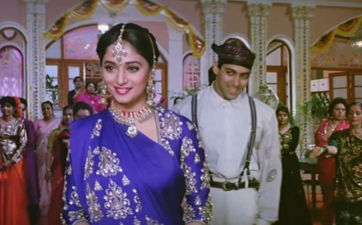 Madhuri and Salman Khan in Hum Aapke Hain Koun