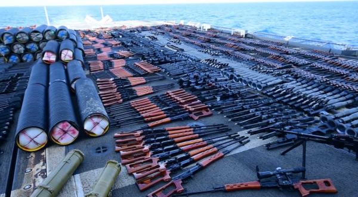 US Navy confiscates weapons in Arabian Sea likely bound for Yemen