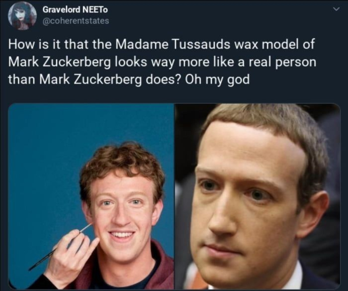 Reference to Mark Zuckerberg being a robot