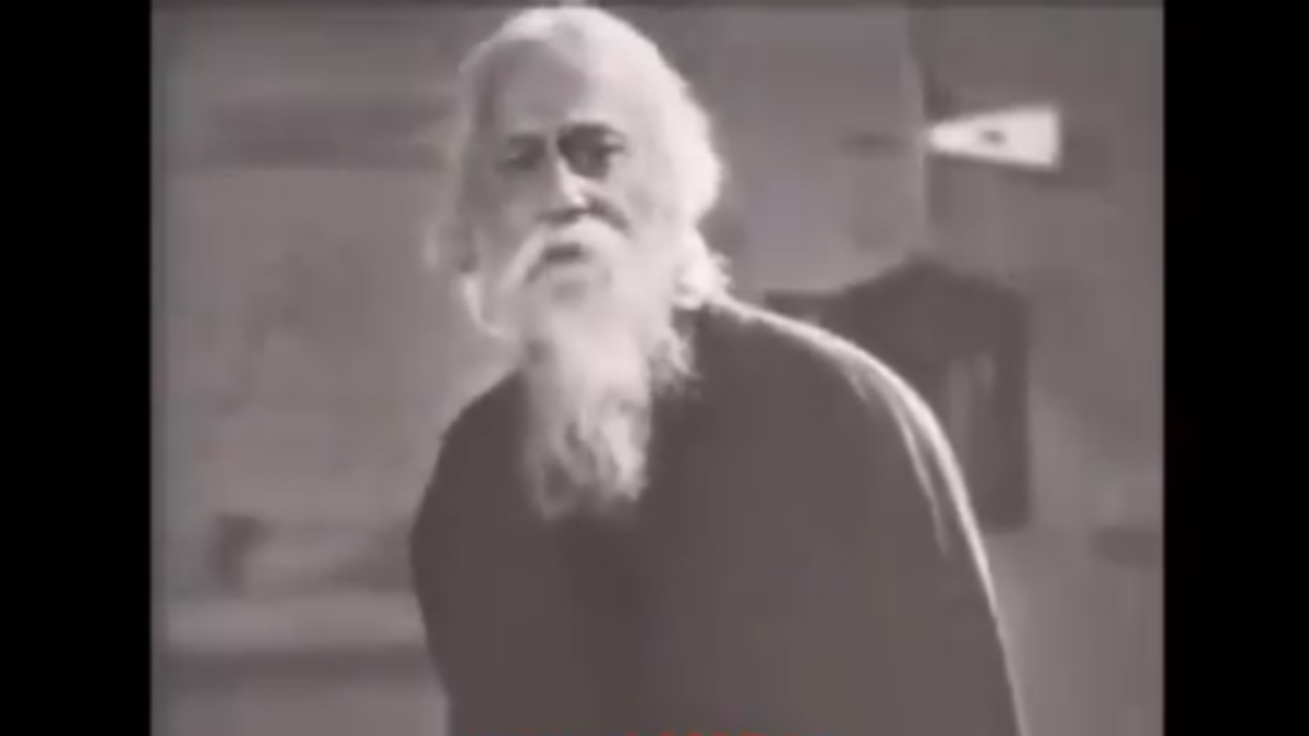 WATCH: Rare video of Rabindranath Tagore singing Indian national anthem goes viral