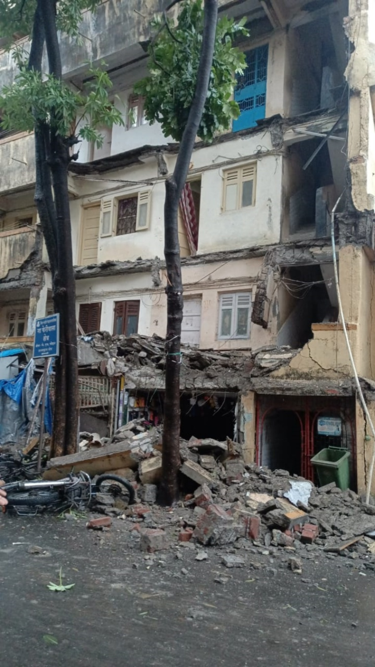 Cyclone Tauktae: Part of rickety building collapses in Bhayandar; 72 residents rescued