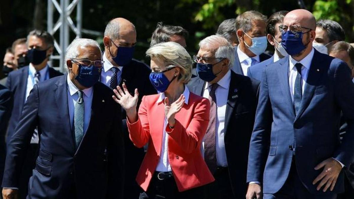 Twenty-four EU leaders met for a summit in Porto, Portugal