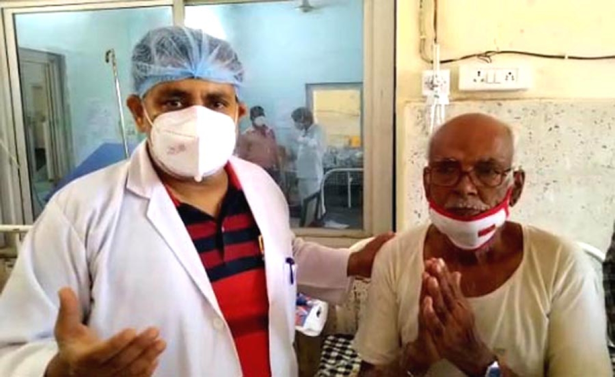 Among others discharged was a  72-year-old resident of Bhaisola who was admitted in Bima hospital Covid centre with 65% lung infection