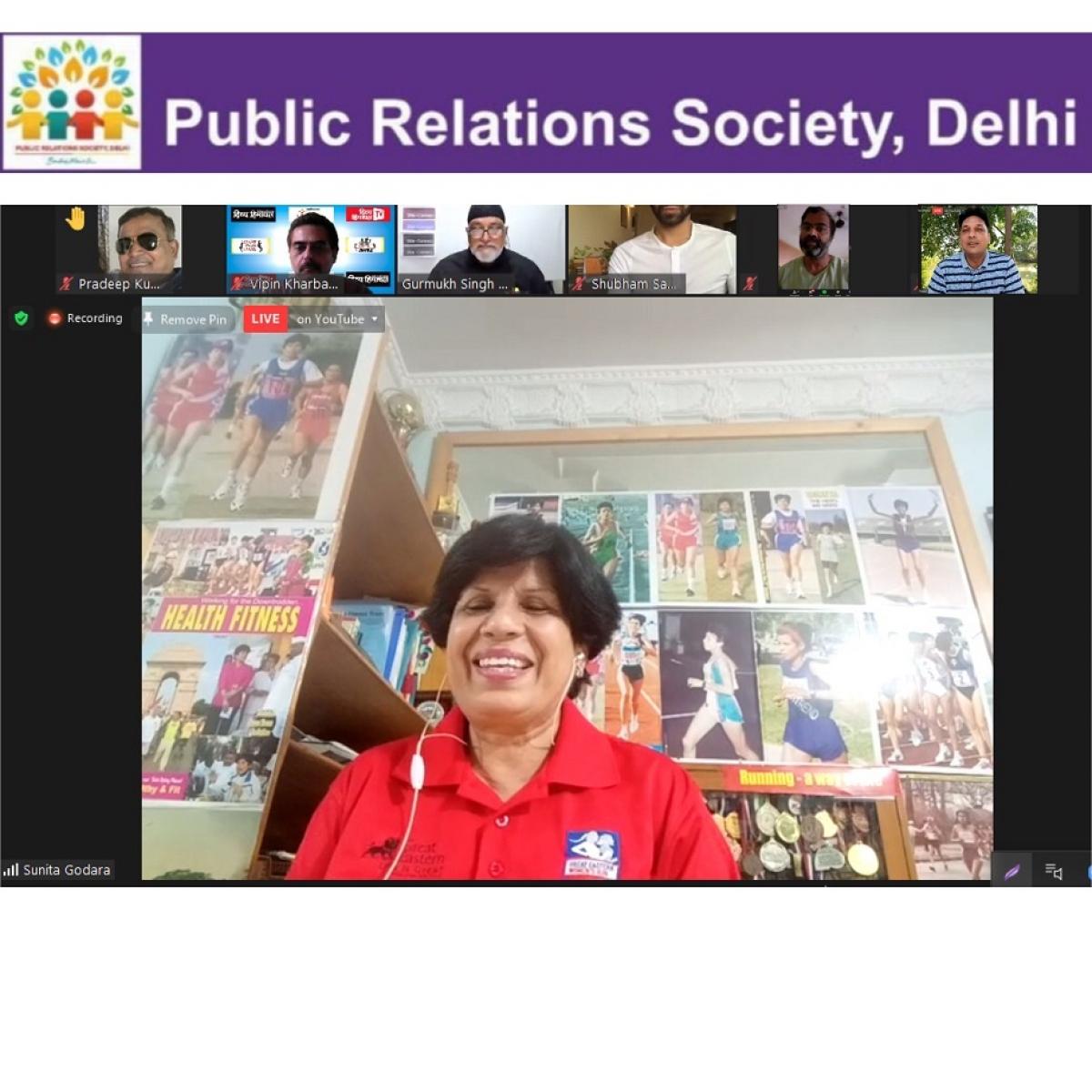 Rich balanced diet and regular exercise dominate at Dr. Sunita Godara's Webinar organised by the PR Society Delhi
