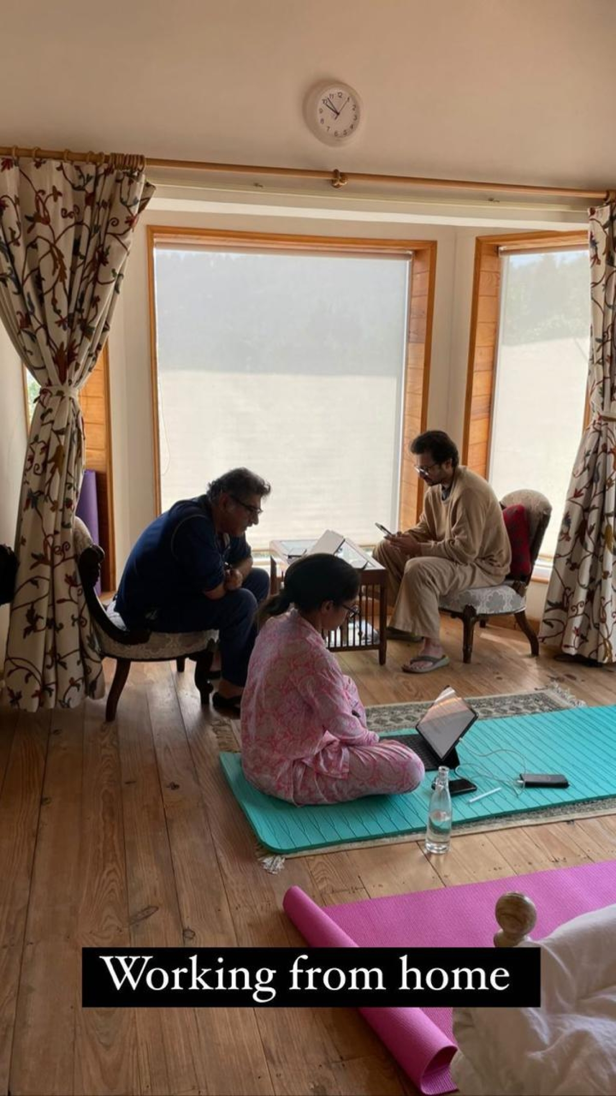 Neena Gupta gives glimpse of 'work from home' scene - can you spot Masaba's rumoured beau Satyadeep Misra?