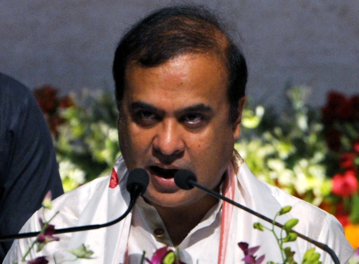 BJP leader Himanta Biswa Sarma takes oath as the Chief Minister of Assam for the first time, at Srimanta Sankaradev Kalakshetra in Guwahati