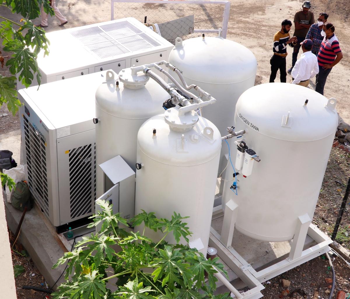 Madhya Pradesh: Trail of oxygen plant underway in Ratlam