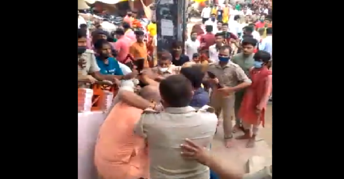 Watch: Big B's family priest thrashed in scuffle with police