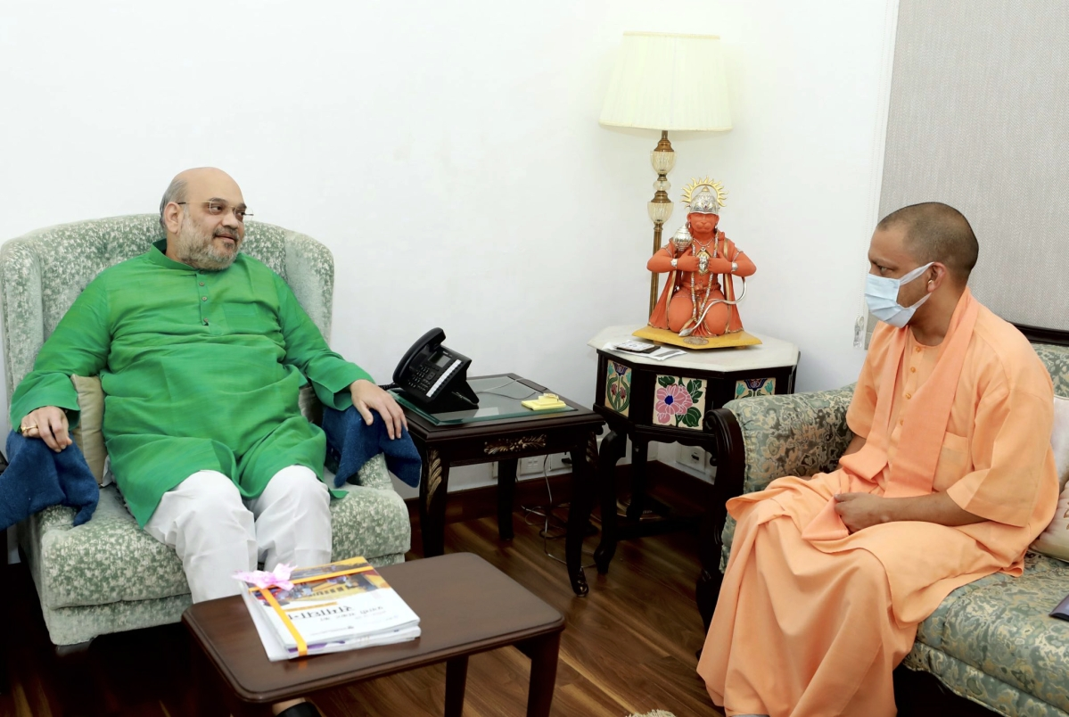 UP's political focus shifts to Delhi; CM Yogi Adityanath meets Amit Shah, to meet PM Modi tomorrow