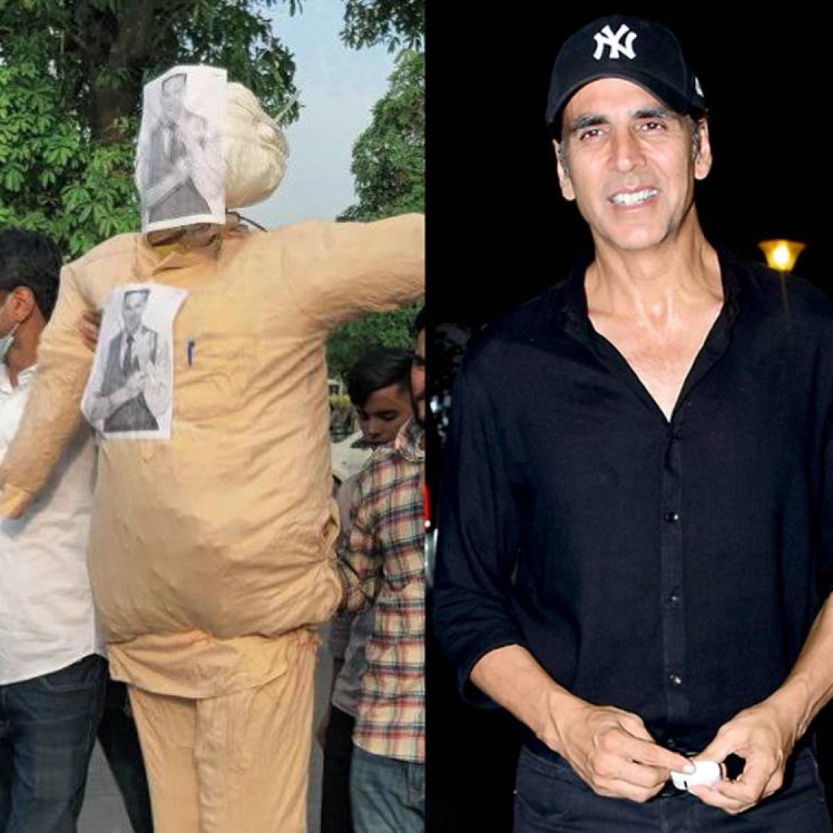 In Pics: Akshay Kumar's effigy burnt in Chandigarh as upcoming film 'Prithviraj' faces backlash
