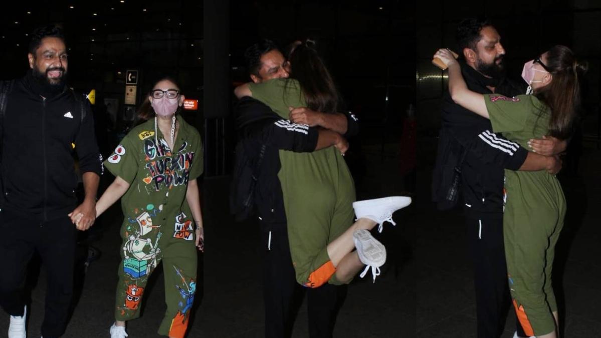 Watch: Netizens react to Shefali Jariwala's 'overacting' as she surprises husband Parag Tyagi at Mumbai airport