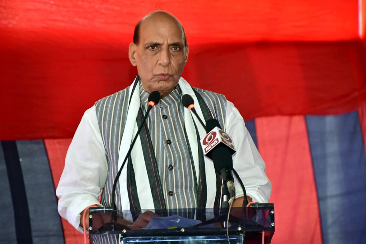 Priest of peace but capable of replying to aggression: Rajnath