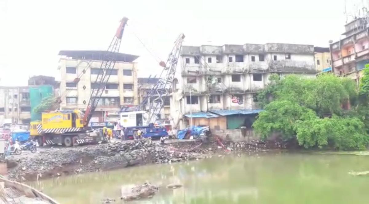 JCB submerged