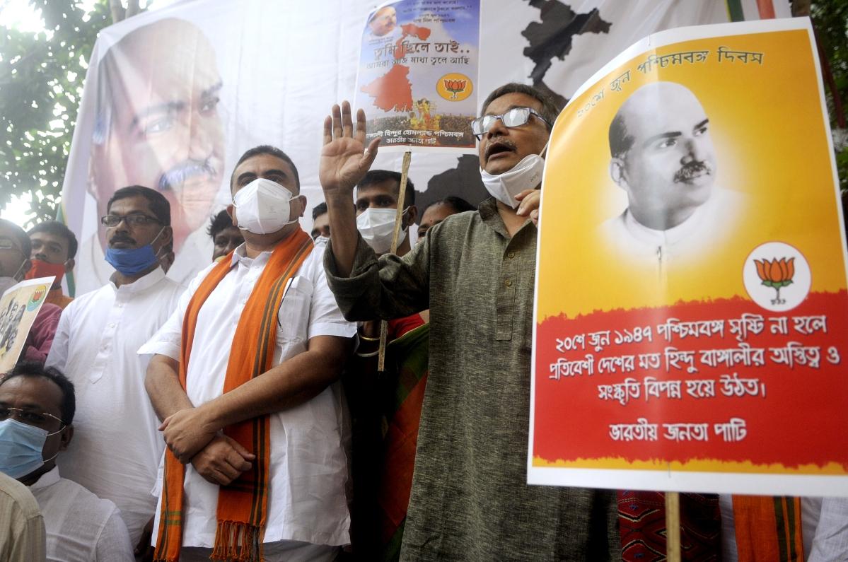Even as section of BJP MPs demand divison of West Bengal, saffron party celebrates 'Pashim Bangal Diwas'
