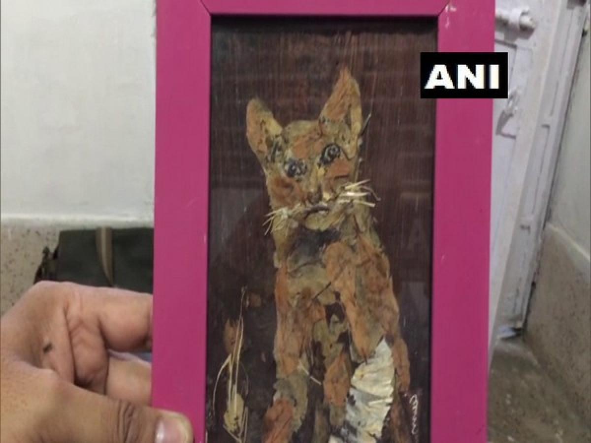Jabalpur: An artiste who uses leaves, petals, tree bark to create  3-dimension effect