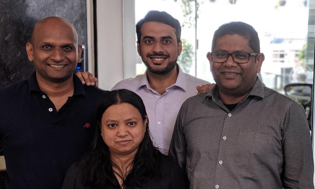 Founders of Zwayam Digital: Nicel KM, Divya T, Shreyas Tonse and Joseph John