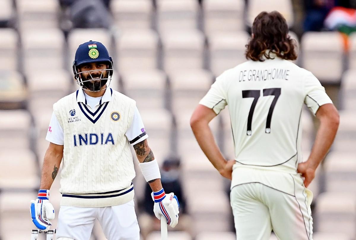 WTC Final Ind vs NZ: Kohli battles on as India reach 120/3 at tea on Day 2
