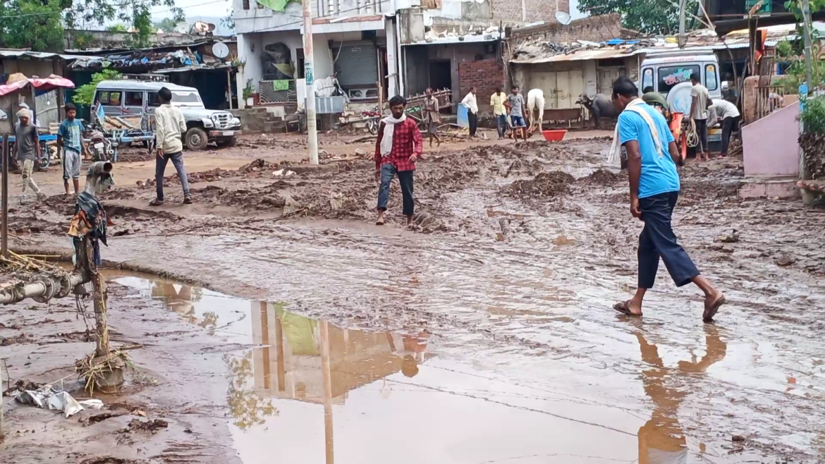 Barwani: Heavy rain in Khetia, animals washed way, officials visit affected villages