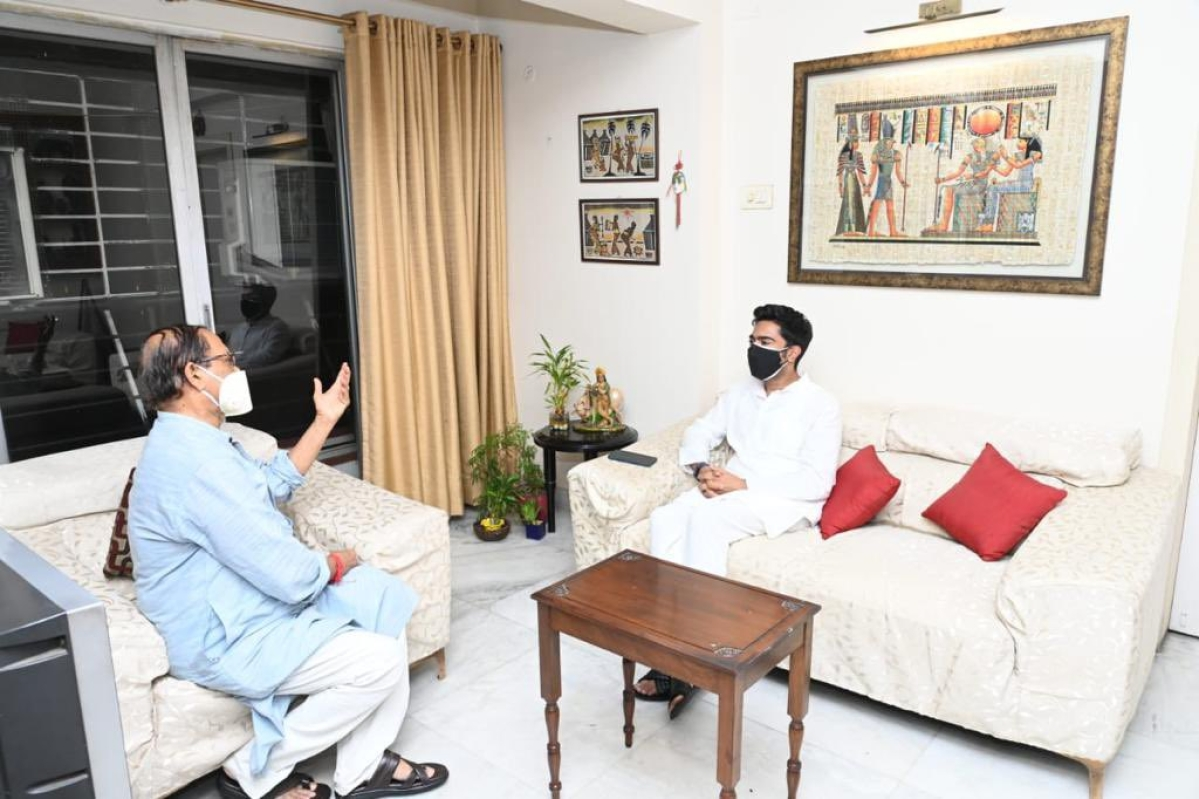 West Bengal: Day after becoming TMC's national general secretary, Abhishek Banerjee meets senior party leaders