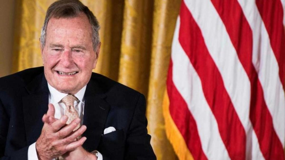 Former U.S President George H.W. Bush