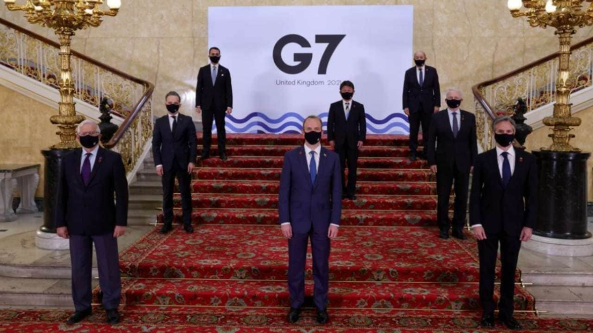 Foreign ministers of Britain, Canada, France, Germany, Italy, Japan and the United States are wrapping up three days of talks in central London that will set the agenda for a G7 leaders' summit next month./ File Image