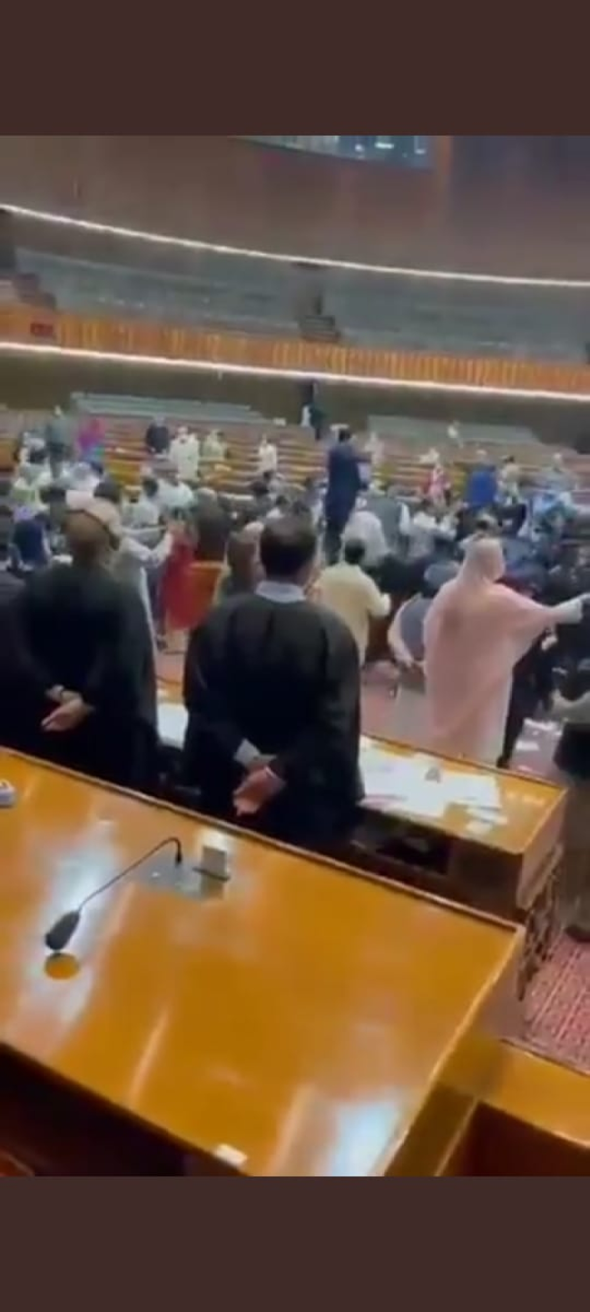 Watch Video: Pakistani leaders throw books, hurl abuses at each other during budget session in Parliament