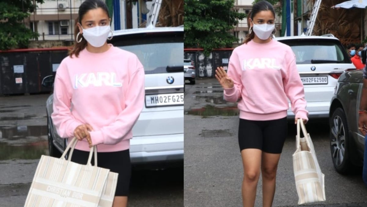 Alia Bhatt pairs Rs 16,000 sweatshirt with Rs 2.4 lakh Dior bag as she steps out for lunch with her girls in Mumbai