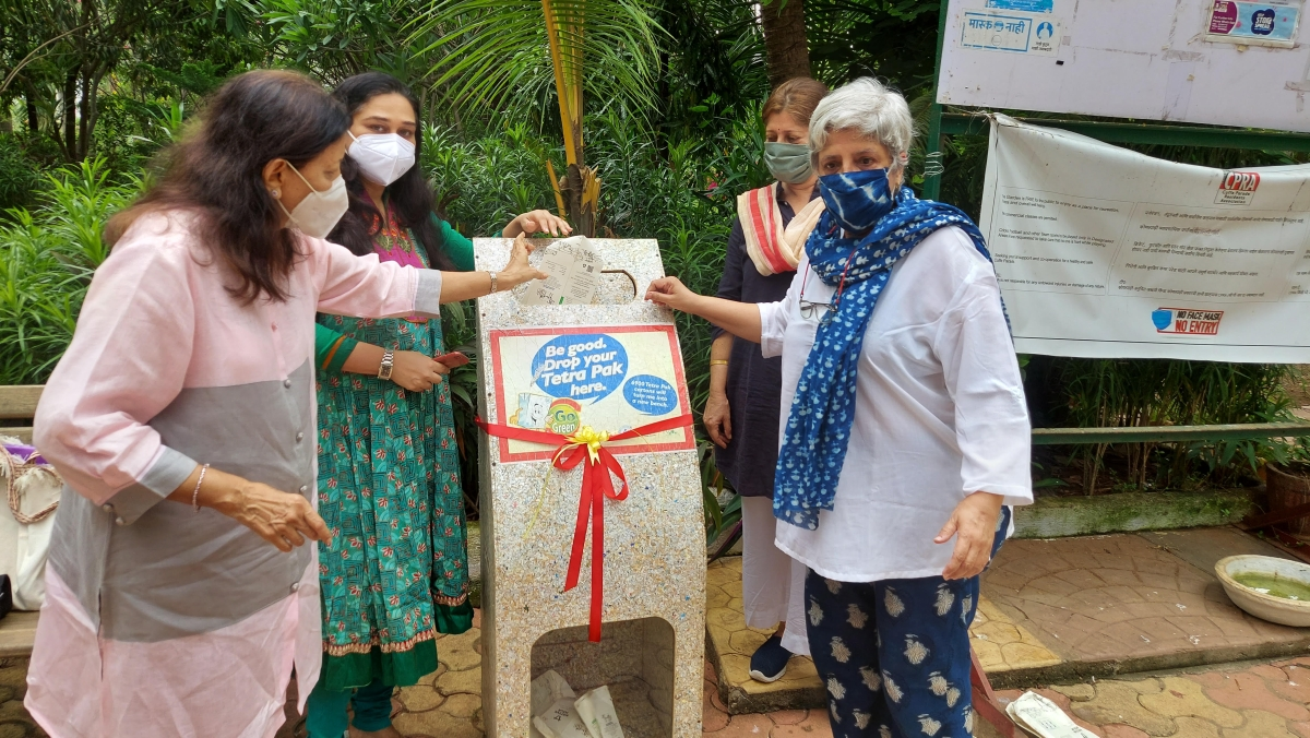 Mumbai: Collection of tetra paks launched at Bay View Marina for Cuffe Parade/Colaba residents on World Environment Day 2021