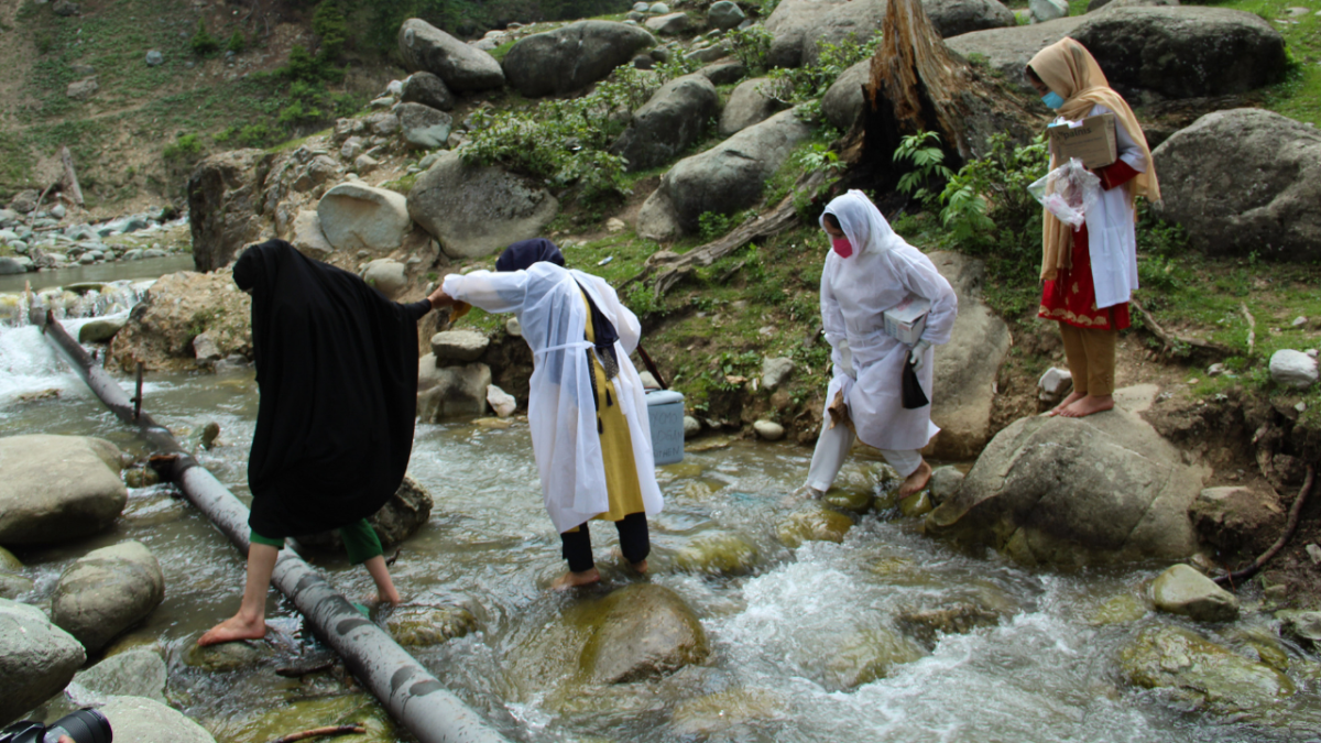 In Photos: A day in the life of healthcare workers vaccinating tribes in remotest parts of Jammu & Kashmir