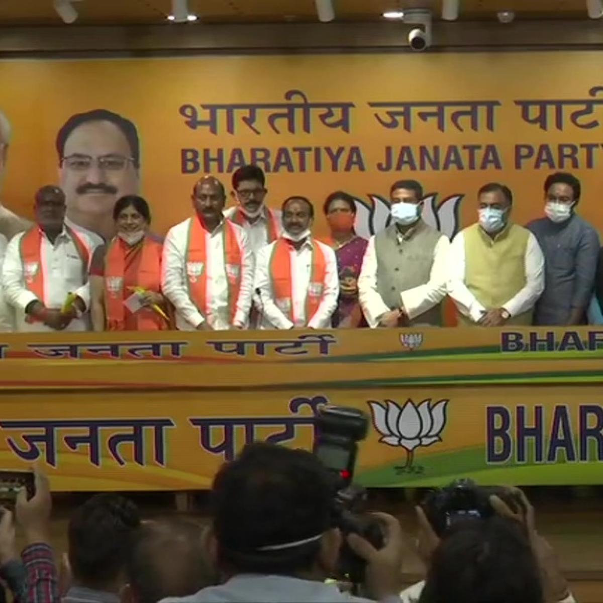 Former Telangana Minister Eatala Rajender joins BJP