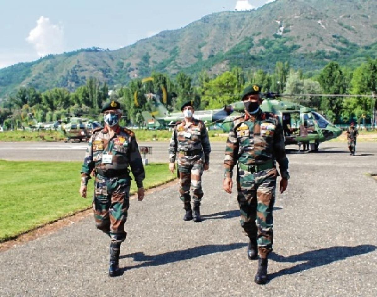 Gen Naravane reviews security  situation in Kashmir