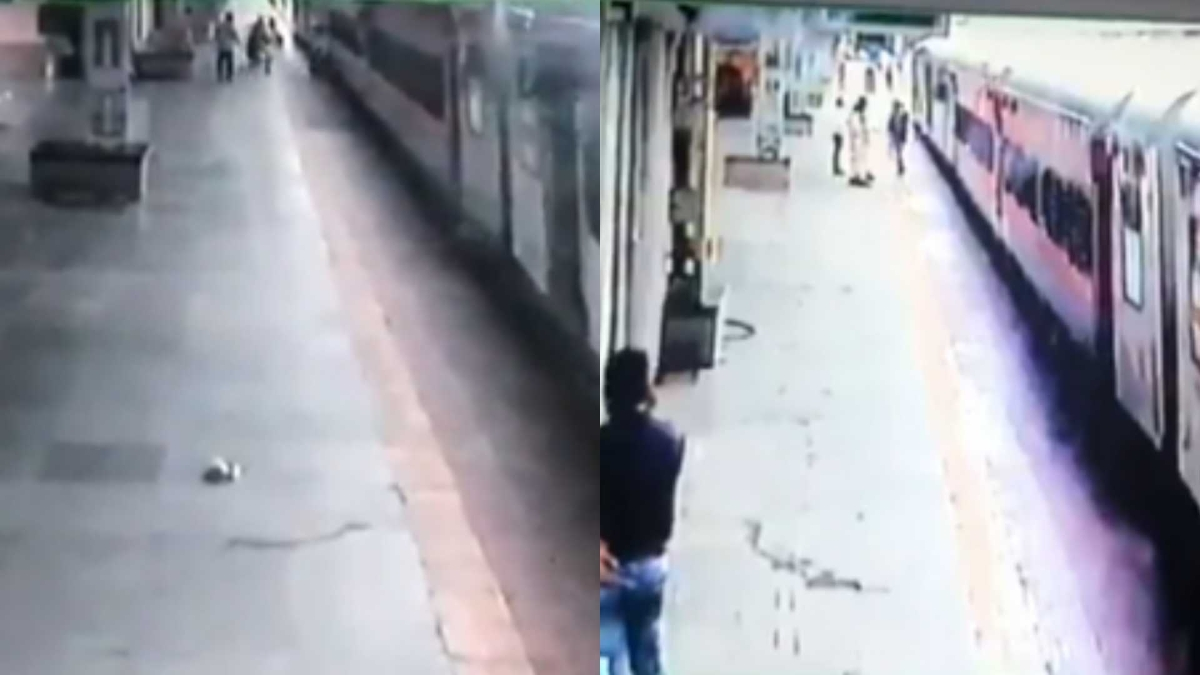 Watch: RPF constable rescues man who slipped while trying to board moving train at Kurla LTT station