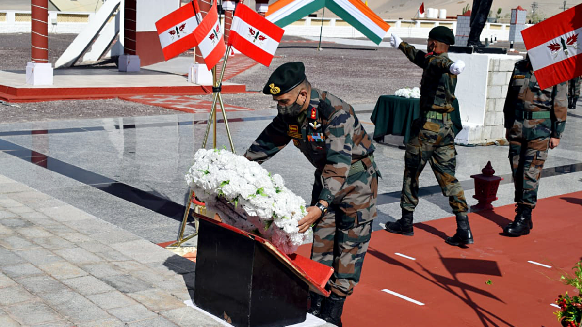 In Pics: A year after India-China border clash in Ladakh, Defence personnel pay tribute to Galwan bravehearts