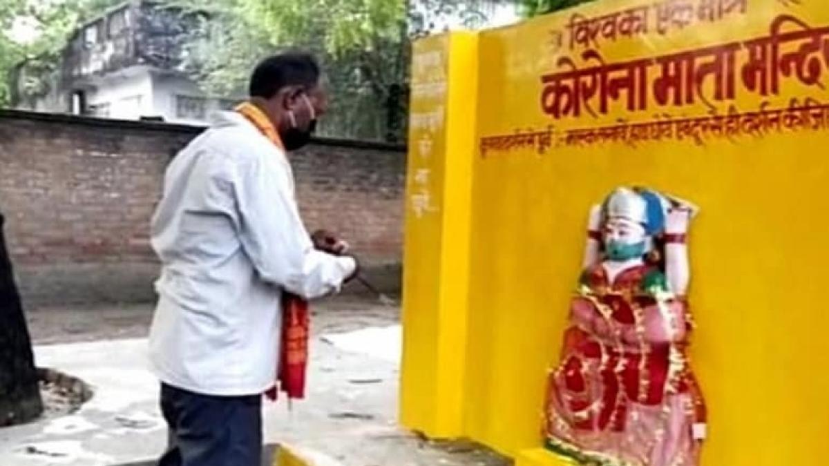 Corona Mata temple demolished in UP'  Juhi Shukulapur village