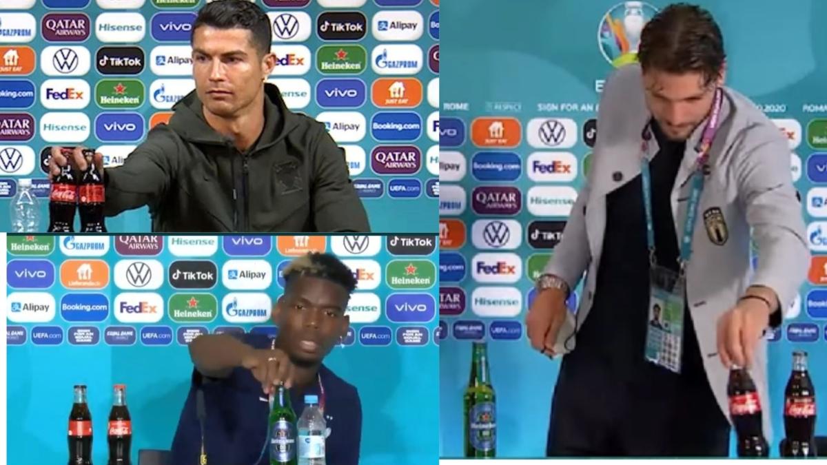 'Bottlegate': After Ronaldo, its Locatelli's turn to snub Coca-Cola while Pogba keeps aside Heineken