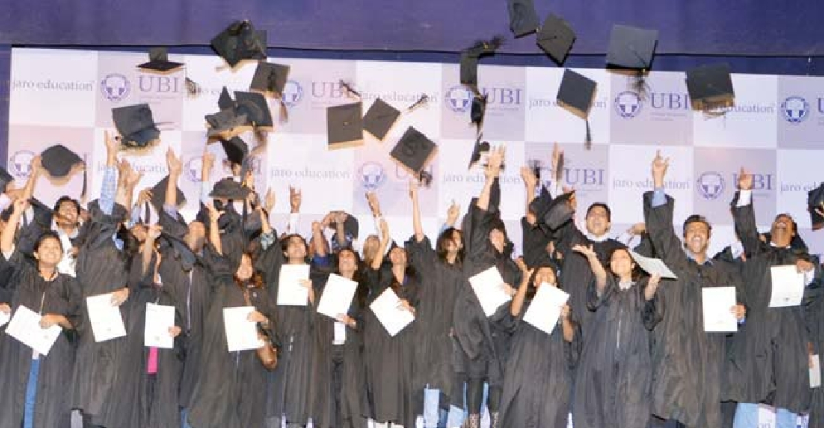Moment of students euphoria at the Convocation Ceremony