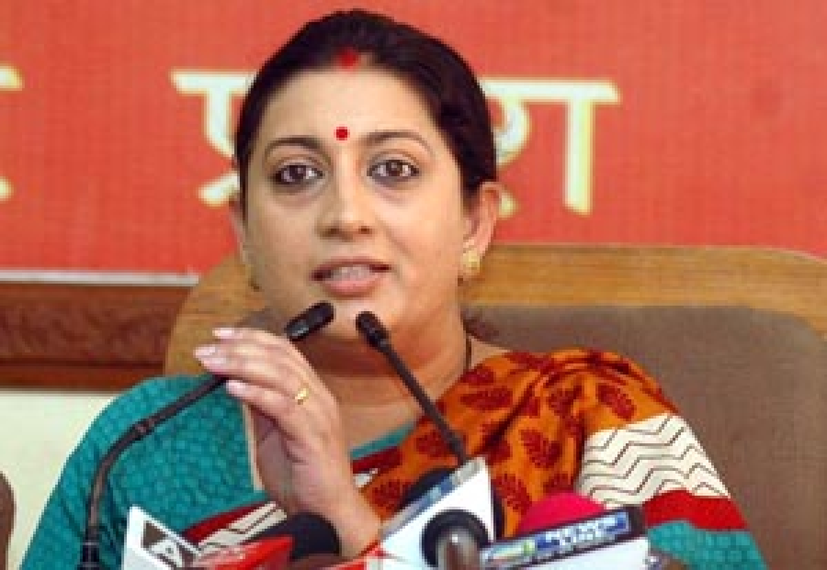 Irani questions clean chit to Robert Vadra
