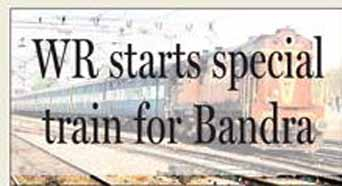 WR starts special train for Bandra