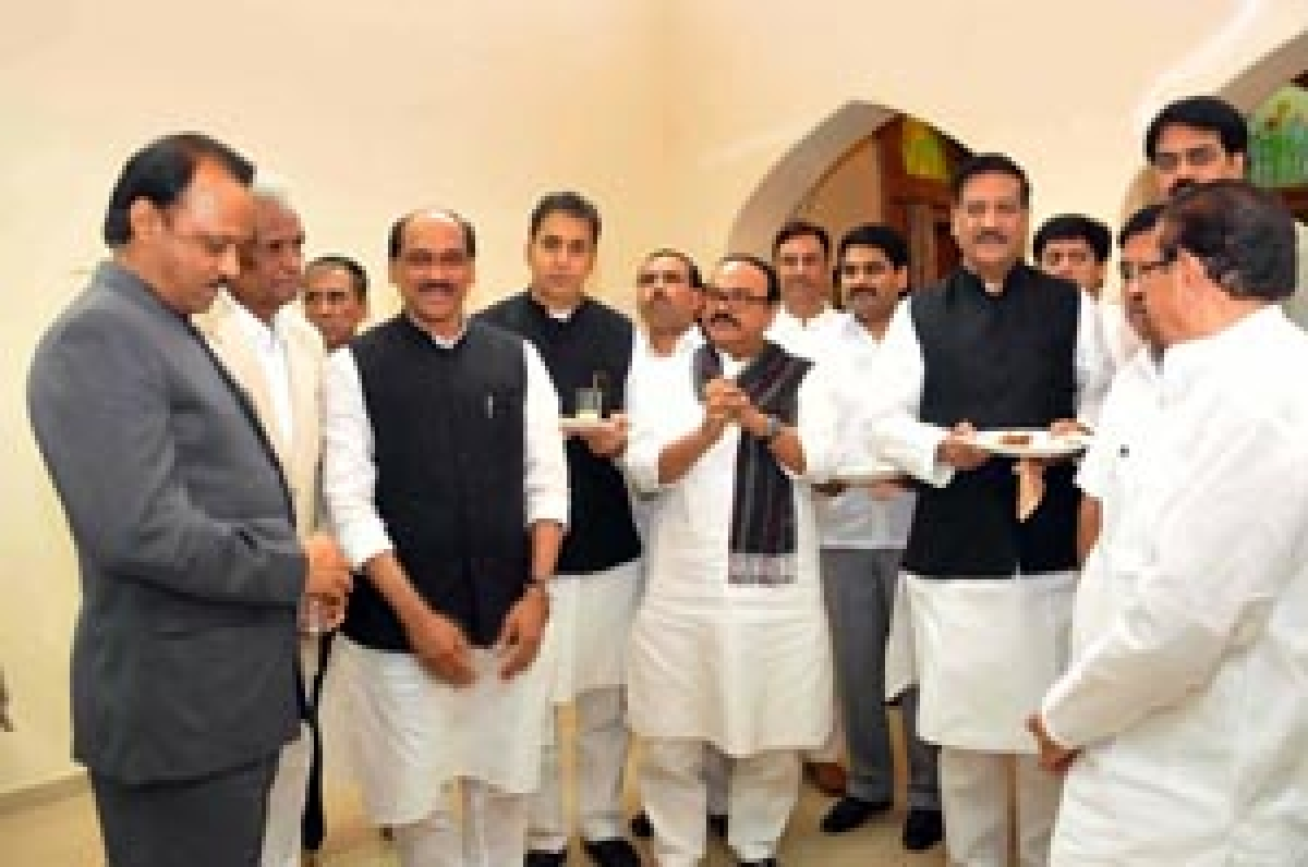 Cong-NCP leaders at the tea party