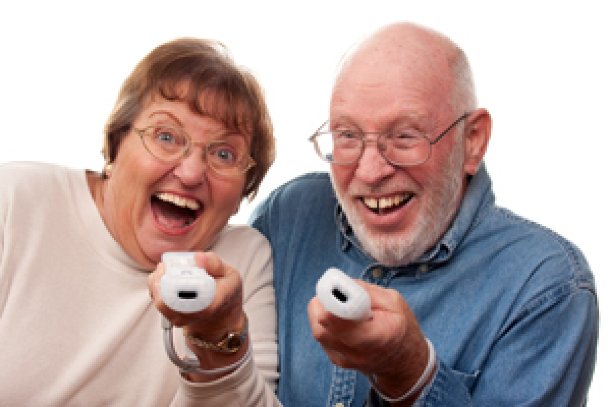 Playing videogames can make older people happy