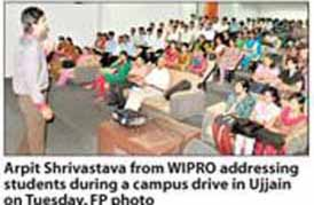 125 students appear in Wipro campus