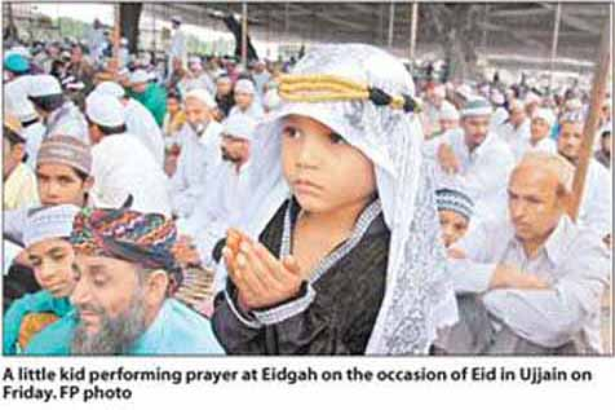 Collective prayers offered at Eidgah