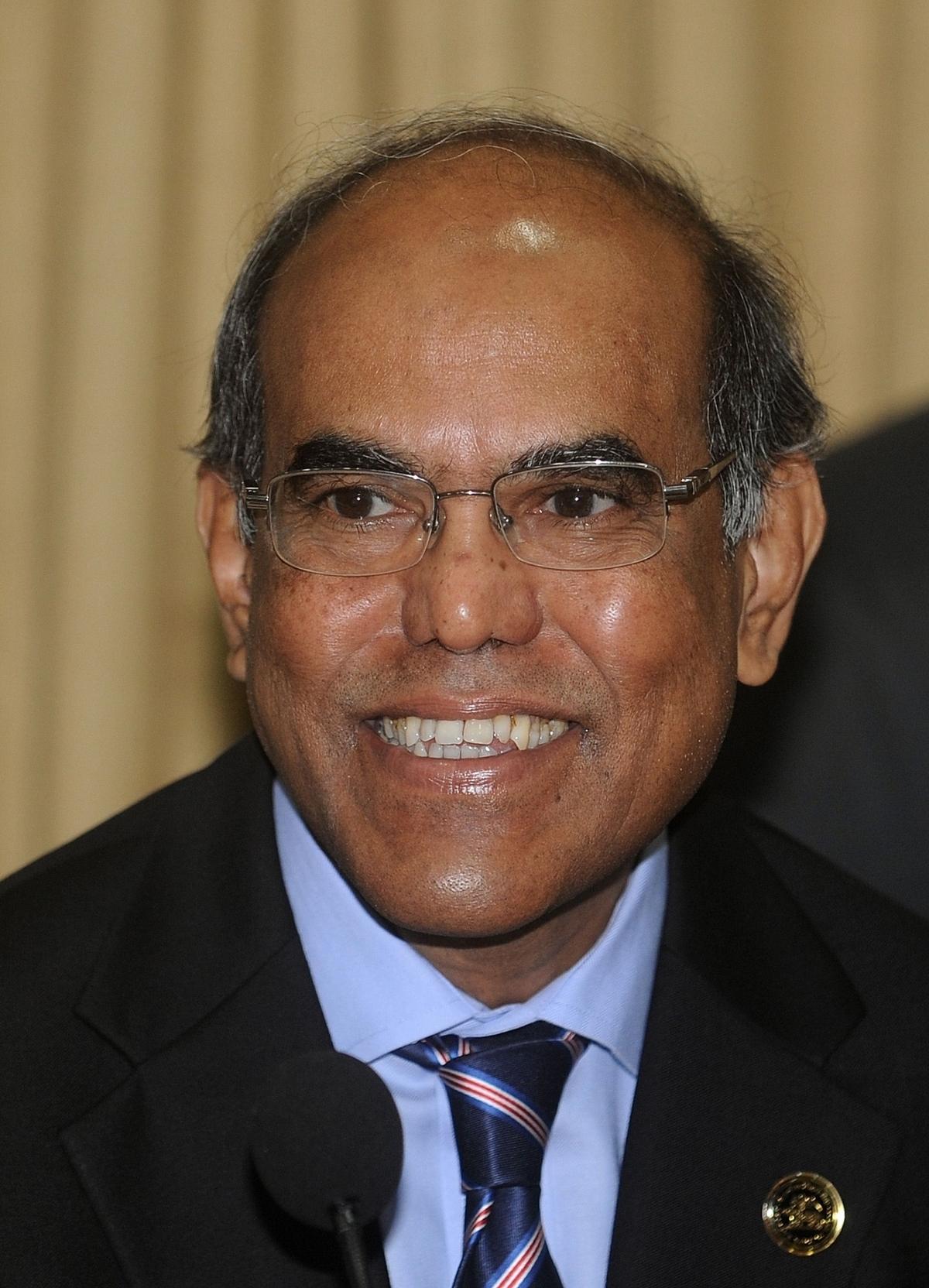 RBI Governor D Subbarao