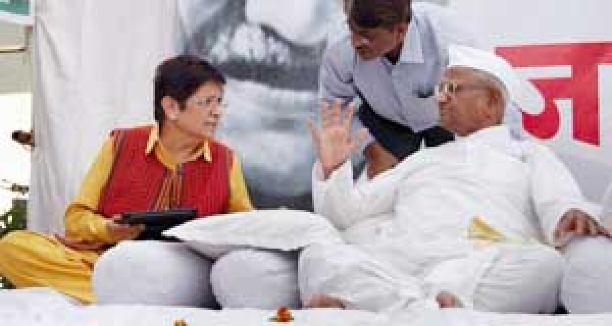 Not fair that Anna is sitting  on fast alone: Krian Bedi