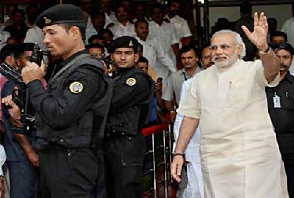 Unprecedented security for Modi's swearing-in ceremony